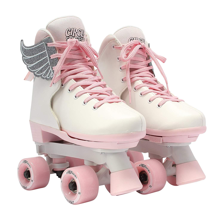 Circle Society - Classic Adjustable Quad Roller Skates - Pink Vanilla