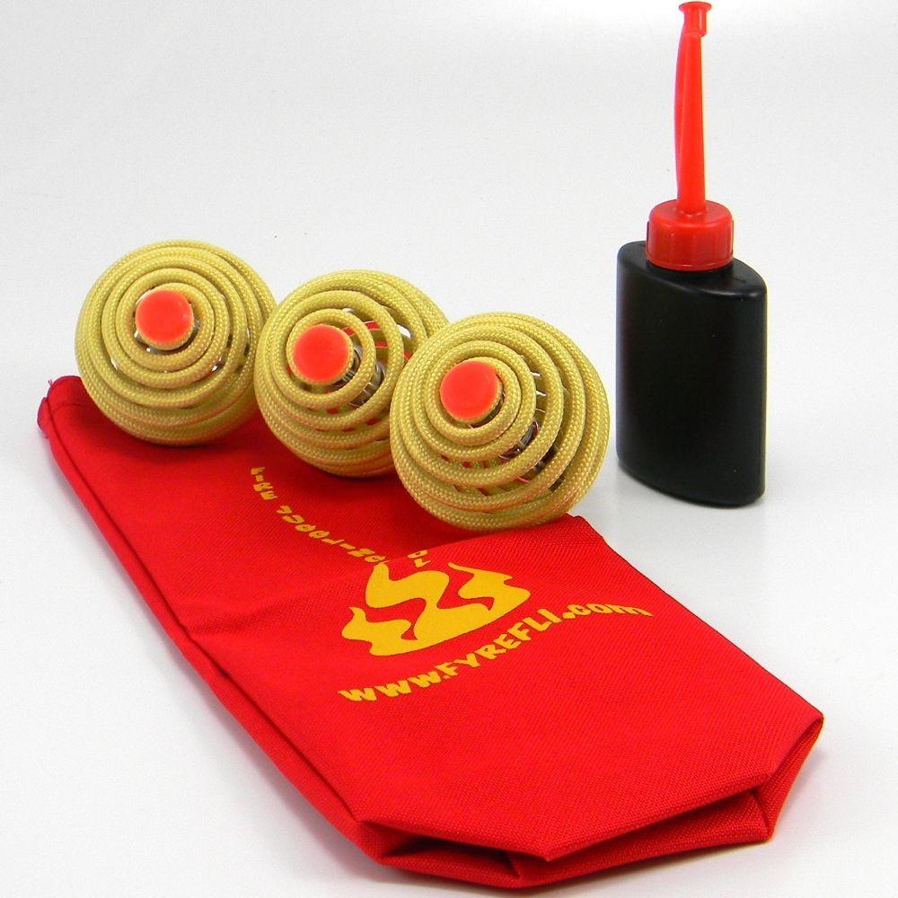 3 x Fyrefli Fire Juggling Balls - 68mm