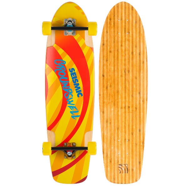 """Seismic Groundswell 34.5"""" Complete Longboard"""
