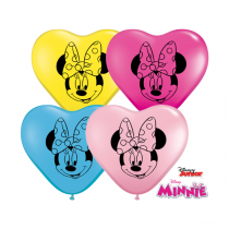 "Qualatex | 6"" Minnie Mouse Heart Balloons"