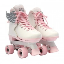 Circle Society - Classic Adjustable Quad Roller Skates - Pink Vanilla