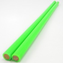 Devil Stick Hand Sticks - 10mm Dowel - Coloured 2mm Silicon - Pair