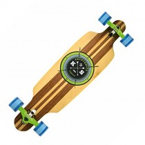 "Kryptonics 38"" 'Cast-Off' Drop-through Longboard"