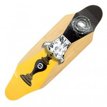 Madrid Bamboo Doorstop 'Lamp' Longboard Deck