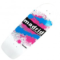 Madrid 'Explosion' Longboard Deck - White