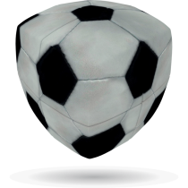 V-Cube FOOTBALL - 2 x 2 Pillow Cube