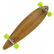"INDY 'Driftwood' 40"" Bamboo Pintail Complete Longboard 