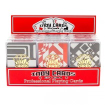 Indy Transparent Plastic Playing Cards (12pc)