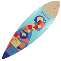 Madrid Pintail 'Piechart' Longboard Deck