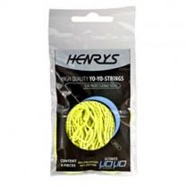 Henry's Yo-Yo String Pack - 6x Yellow Strings